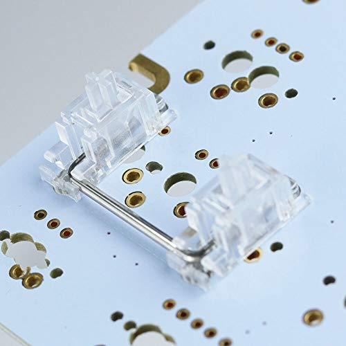 Teclado mecánico Cherry MX Interruptor PCB Montado Estabilizador de cerezo claro Caja transparente 6.25U MODIFICADOR MODIFICADOR KEY Estabilizador de la barra espaciadora Convención de uso fácil