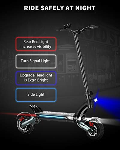 NANROBOT D6+ Electric Scooter for Adults, Scooter Electric Up to 40 Miles & 40 Mph, Electric Scooters Adult 2000W Motor 10' Pneumatic Off-Road Tires Dual Hydraulic Suspensions