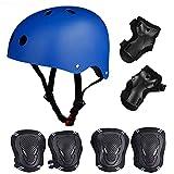 tabla de skate casco con los guardias Protective Gear juego de rodilleras codo muñeca para niños BMX/Skateboard/Scooter