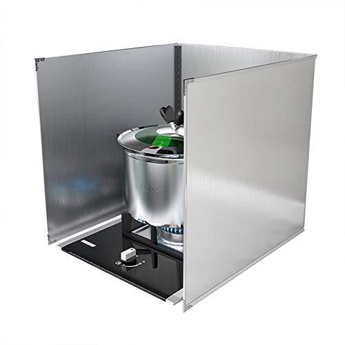 Protector antisalpicaduras de cocina, protector plegable contra salpicaduras de aceite, paneles a prueba de salpicaduras, placa de aislamiento de aceite resistente al escudo de la estufa de gas