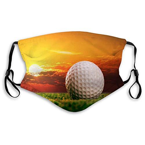 Deporte pelota de golf Sunset lavable y reutilizable a prueba de polvo neutral boca cubierta de la cara de la cara de anime púrpura estrellada máscara de lobo 'Tamaño: M', protector facial