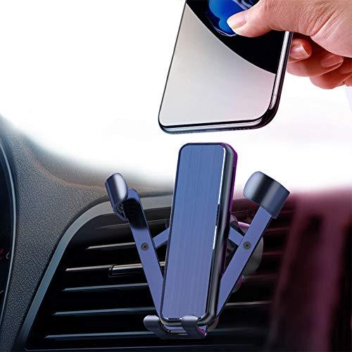 YUESUO 車載ホルダー スマホ車載ホルダー 汎用クリップ式 スマホホルダー 携帯スタンド クリップ式 エアコン吹き出し口用 車 カー スマホスタンド 重力で自動開閉 ワンタッチ スマホスタンド 360度回転可能 アウトレット 落下防止 超安定 片手操作