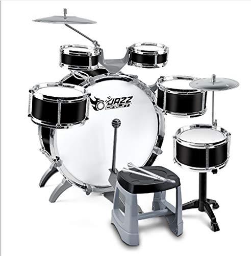 Kindertrommel-Kit Schlaginstrumente Junior Drum Set Jazz Drum Set Für Anfänger Kind Geschenk Mit Snare, Tom, Schlagzeug, Bass Drum Pedal, Becken, Hocker Und Stöcke