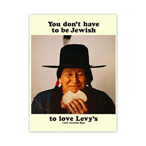 Art Advert Food Levy Rye Bread Native American Jewish Poster Print