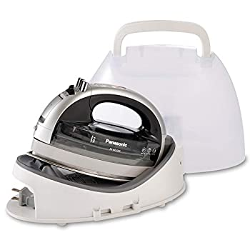 Panasonic NI-WL600 Cordless Portable 1500W Contoured Multi-Directional Steam/Dry Iron Stainless Steel Soleplate Power Base and Carrying/Storage Case Silver