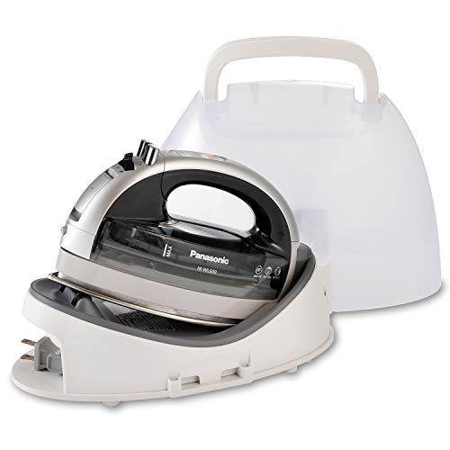 Product Image of the Panasonic NI-WL600 Cordless, Portable 1500W Contoured Multi-Directional Steam/Dry Iron, Stainless Steel Soleplate, Power Base and Carrying/Storage Case, Silver