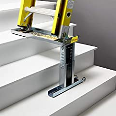 """VERSATILE: Use your existing single and extension ladders on stairs. Micro-adjustable to 1/8"""" for use on almost any stairs USE WITH MULTIPLE LADDERS: Swap ladders instantly, always use the right ladder for the job EASY TO SET UP, EASY TO USE: No inst..."""