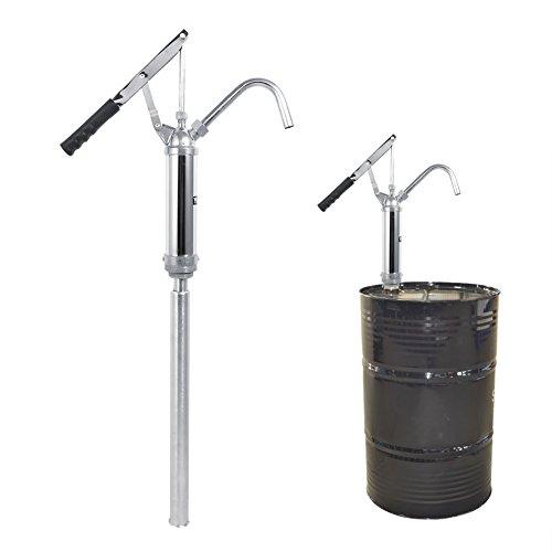Pompa Manuale per Fusti Olio,Pompa a barile per olio,Pompa Travaso Liquidi Rotativa con leva, dispositivo di aspirazione dell'olio, 20 l/min.