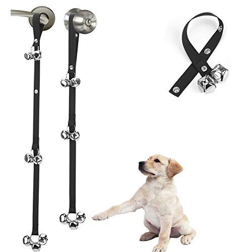 [Pack of 2 Upgraded Puppy Bells Doorbells for Door...