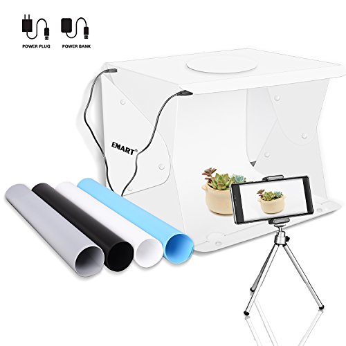 Emart 14' x 16' Photography Table Top Light Box 52 LED Portable Photo Studio Shooting Tent