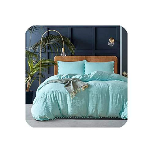 Goods-Store-uk Roze Meisjes Beddengoed Sets Twee/Queen/King Comforter Beddengoed Set Dekbedovertrek Met Kussensloop Home Texile Bed Set, Blauw, Koning 264x229cm 3 Stks