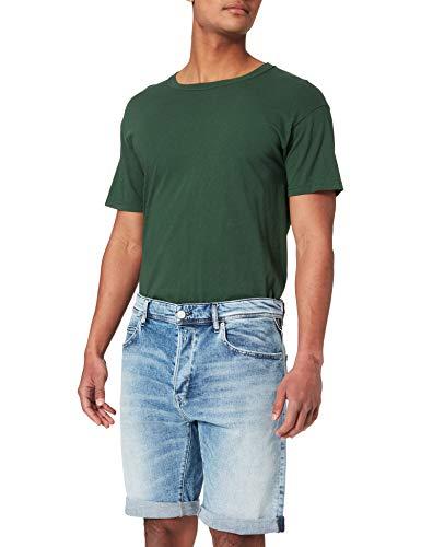 REPLAY Ma981y.000.573 812 Pantalones Cortos, 010 Azul Claro, 38 para Hombre