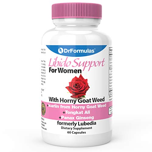 DrFormulas Libido Support for Women with Horny Goat Weed Extract with Maca, Epimedium and Icariin, (Formerly Lubedia), 60 Count