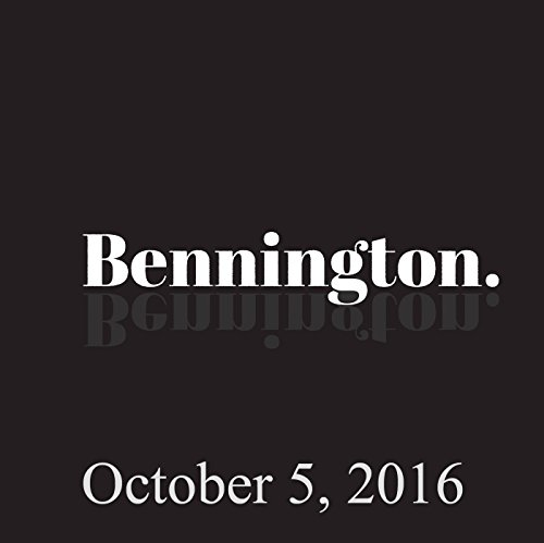 Bennington, October 5, 2016 audiobook cover art