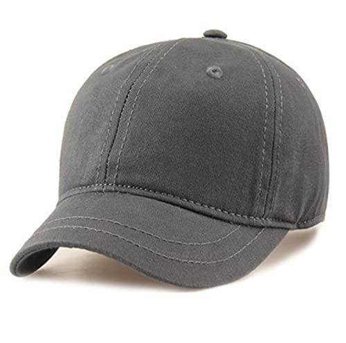 Gorra De Beisbol Mujer Hombre Gorra De Béisbol Hombre Tela Fina Algodón Sombrero para El Sol Chica Hombre Sombreros Cortos 55-60Cm Gris
