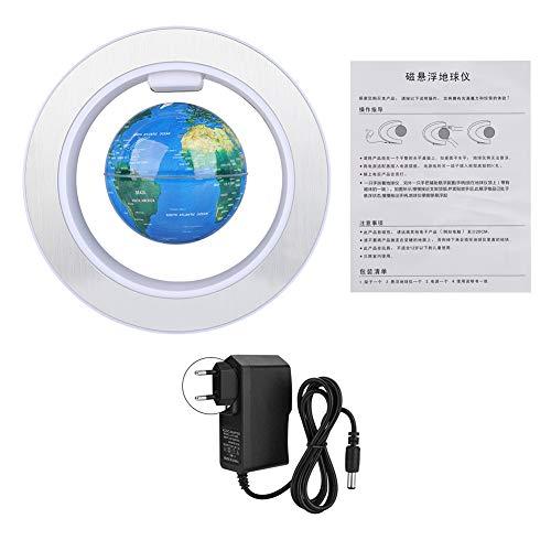 Floating Globe, Floating Globe Magnetic Levitation Globe Rotierender Weltkarten-Globus mit LED-Lichtdekor für Heim- und Bürodekoration(EU-Stecker)