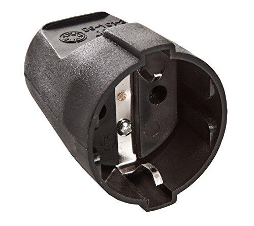 as - Schwabe 45012 Schutzkontakt-Kupplung, schwarz, max. Querschnitt1,5mm² 230V, 230 V