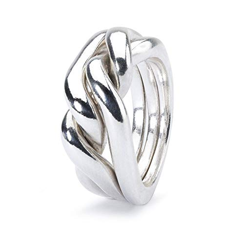 Trollbeads Silber Ring Stärke, Mut und Weisheit, Gr. 52