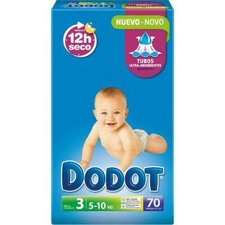 Pañales DODOT talla 3 70 unidades (4-10 KG