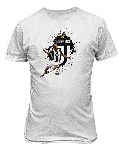 BTA Apparel Neu Fußball Grafik Shirt C.Ronaldo CR7 Herren T-Shirt (Weiß, L)