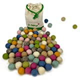 8-Natur Mix Cielo Mezcla de 100 Bolas de Fieltro de 2,3 cm de Grosor de Lana Merino, para Manualidades, guirnaldas, alfombras de Fieltro, decoración