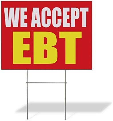 Weatherproof Yard Sign We Accept Ebt Promotion Business B Red Lawn Garden Buy Here Pay 18x12 product image