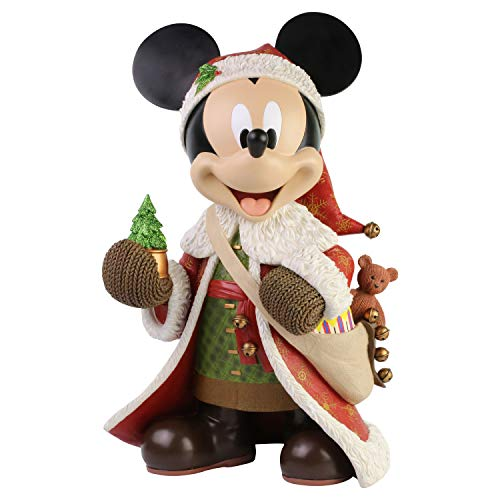 Enesco Disney Showcase Santa Mickey Mouse Big Figurine, 15 Inch, Multicolor