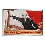 QIUPING Lenin Sowjetische Propaganda-Poster, Kunstdruck,