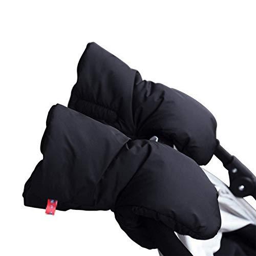 trounistro Handwärmer, Handschuhe Kinderwagen Handmuff Kinderwagen Handschuhe mit Baumwolle Innenseite,Wasserfest atmungsaktiv und windfest,Universalgröße für Kinderwagen - Schwarz
