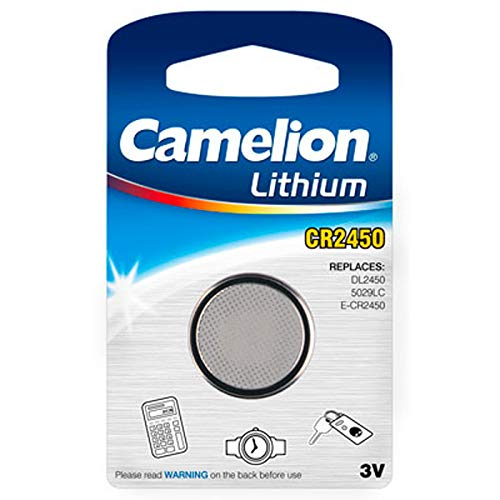 Lithium-Knopfzelle CAMELION CR-2450 3,0V, 1er-Blister