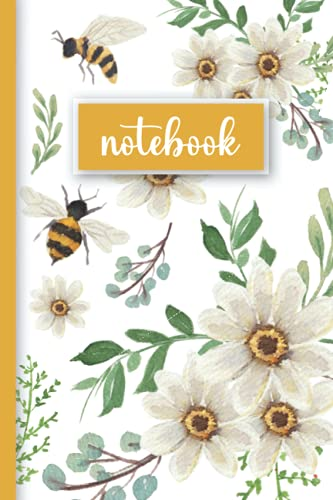 """Cute Bee Journal: Blank Lined Journal, Bumblebees - 6x9"""" (100 pages)"""