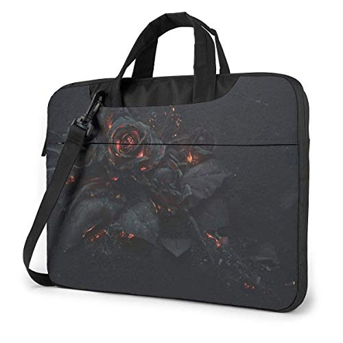 XCNGG Laptop Bag Carrying Laptop Case, Black Fire Flower Computer Sleeve Cover with Handle, Business BriefcaseBag for Ultrabook, MacBook, Asus, Samsung, Sony, Notebook 13 inch