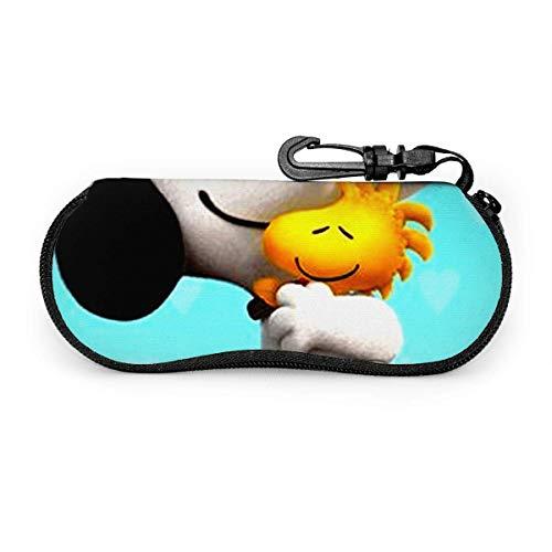 TURFED Custodia per occhiali da sole e occhiali da vista snob che abbraccia Woodstock Durevole supporto per occhiali con cerniera con clip da cintura