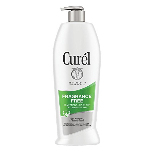 Curél Fragrance Free Comforting Body Lotion, Body and Hand Moisturizer for Dry, Sensitive Skin, with Advanced Ceramide Complex, Repairs Moisture Barrier, 20 Ounce