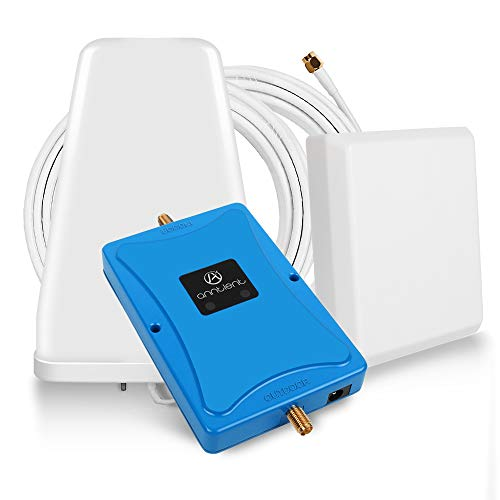ANNTLENT Amplificador Señal Móvil gsm 900MHz 3G DCS 1800MHz LTE Mejorar Llamadas Banda 8 Banda 3 para Movistar Orange Vodafone Repetidor de Cobertura Móvil con Panel y LDPA Antena Kit