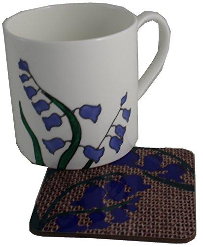 Dreamair Bluebell Mug en Porcelaine et Dessous-de-Verre Coffret Cadeau