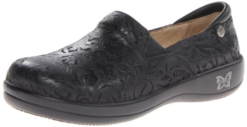 Alegria Women's Keli Professional Slip Resistant Work Shoe,Black Embossed Paisley,37 BR/7-7.5 M US