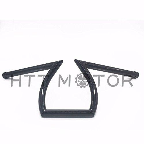 HTTMT HB07- Cruiser Z-Bar Handle Bars 1' Gloss Black Compatible with Harley XL Sportster 1200 883 Custom