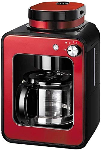 CHNFF praktische smart-koffiezetapparaat, permanent herbruikbare filter, geïsoleerd 600W, 580ml, rood