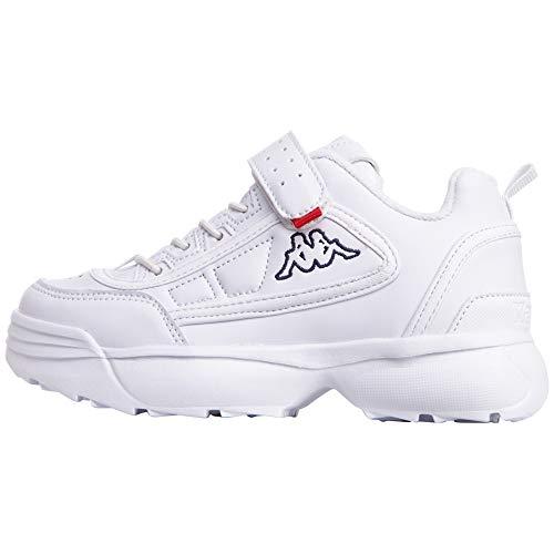 Kappa Rave NC Kids Sneakers, Schwarz White 1010, 31 EU