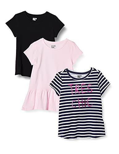 Spotted Zebra 3-Pack Short-Sleeve Tunic Tops fashion-t-shirts, Tres Chic, 4T, 3er