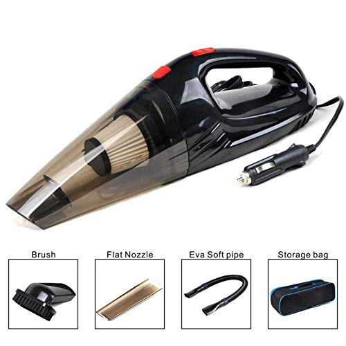 Car Vacuum Cleaner Handheld Auto Vacuums Cord DC 12V Lightweight Dry Hand Vac for Automotive Interior Clean and Home Pet Hair,Cigarette Ash (Black)