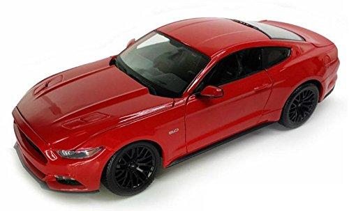 Ford Mustang GT 2015 Modellauto Diecast Metall Maßstab 1:36 Öffnung Türen Detaillierte Interior Pullback Action-Modell von Welly (Rot)