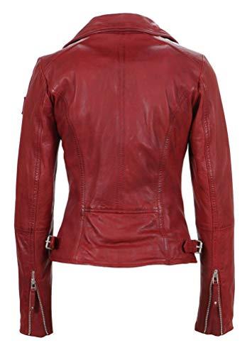 Freaky Nation Biker Princess Chaqueta, Rojo (Apple 4068), L para Mujer