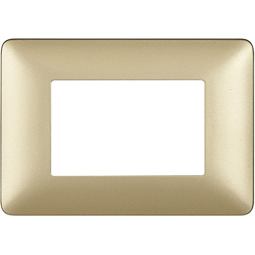 BTicino AM4803MGL placca 3 Moduli, Gold