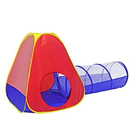CSQ Combination Tent, Children's Creeping Tunnel Tent Outdoor Multifunctional Tent Three Pointed Stable Tent Baby's Ball Pool Children's play house (Color : Picture colour)