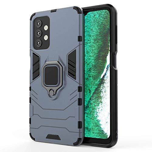 LORDZMIX Funda para Samsung Galaxy A32 5G, Nivel Militar Pesado Estuche Protector Híbrido Doble Capa con Metal Magnetica Anillo Soporte