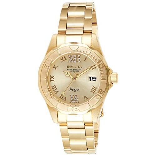 Invicta Angel Orologio Donna Quarzo, 38mm, Oro, 14397
