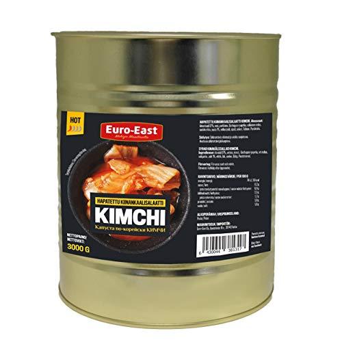 Euro-East Kimchi, Koreanisch Vegan und Glutenfrei eingelegter Chinakohl 1er pack (1x3000g)