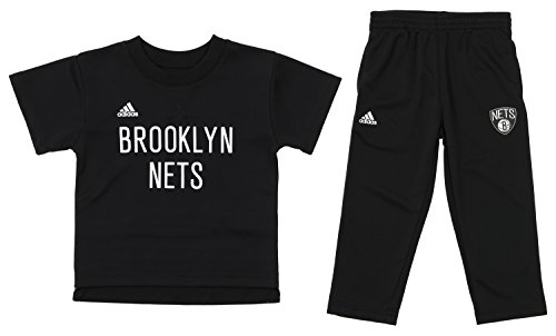 Outerstuff NBA Toddlers Brooklyn Nets Courtside Tee and Pants Set, Black 2T